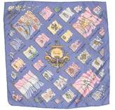 Hermes Pavois Silk Pocket Square