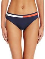 Tommy Hilfiger Women's Retro Flag Color Block Classic Bikini Bottom