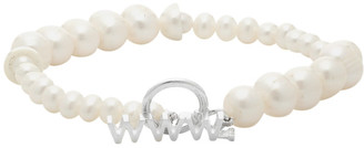 WWW.WILLSHOTT Off-White Alternating Fused Pearl Bracelet
