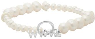 WWW.WILLSHOTT Off-White Alternating Fused Pearl Bracelet