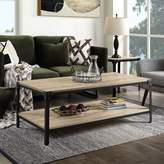 BEIGE Stubblefield Coffee Table with Storage Union Rustic Color: Sandy