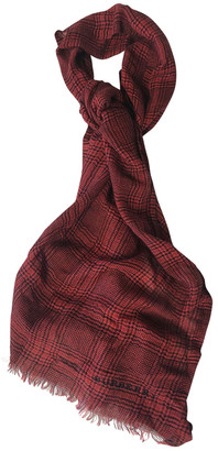 Burberry Red Cotton Scarves & pocket squares