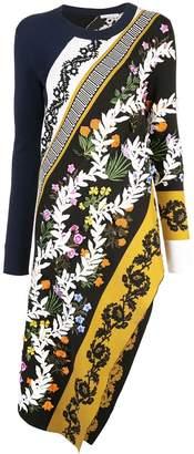Oscar de la Renta floral asymmetric jumper
