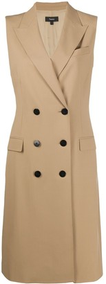 Theory Sleeveless Double-Breasted Trench Coat