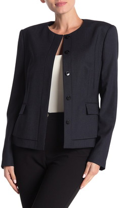HUGO BOSS Jasyma Tonal Stripe Stretch Wool Suit Jacket