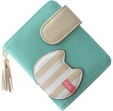 Dreambox Women's Cute Cat Design Faux Leather Card Holder Mini Wallet Clutch