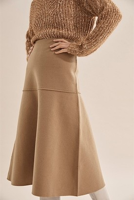 Country Road Panelled Wool Skirt