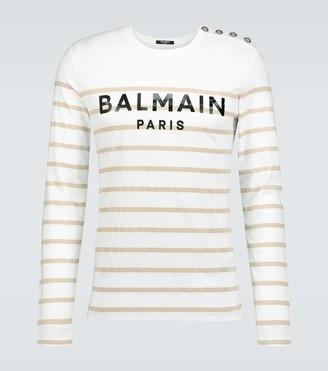 Balmain Exclusive to Mytheresa - striped long-sleeved T-shirt