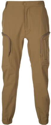 White Mountaineering tapered-leg cargo trousers