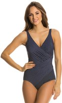 Miraclesuit Pin Point Oceanus One Piece Swimsuit 8122962