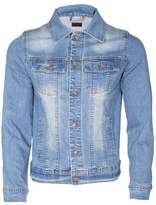 Noroze Mens Washed Denim Trucker Jacket (, L)