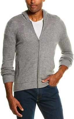 Atm Anthony Thomas Melillo Front Zip Wool & Cashmere-Blend Hoodie