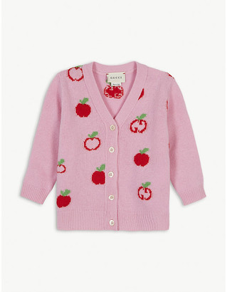 Gucci Apple GG wool cardigan 6-36 months