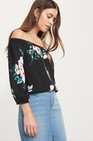 Dynamite Off-The-Shoulder Button Up Blouse