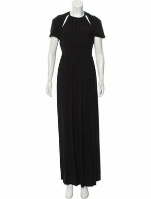 Burberry Cutout Short Sleeve Gown Black