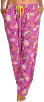 Angelina Blue Owl Fleece Pajama Pants - Plus Too