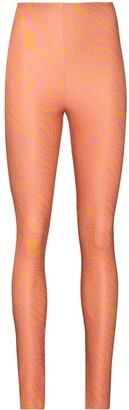 MAISIE WILEN Graphic Marble Print Leggings