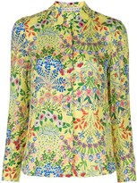 Alice + Olivia Garden Print Shirt