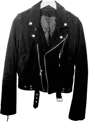 BLK DNM Black Suede Leather Jacket for Women