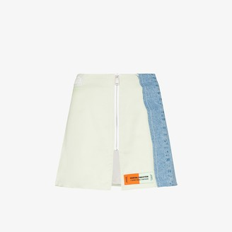 Heron Preston X Sami Miro panelled zip mini skirt