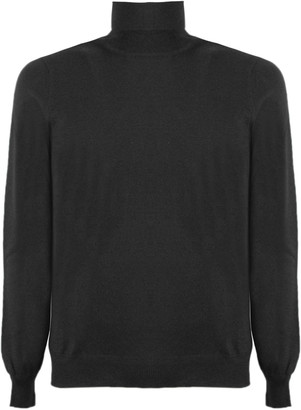 Fay Black Virgin Wool Sweater