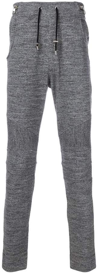 Balmain ribbed trim sweatpants