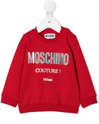 MOSCHINO BAMBINO Logo Long-Sleeve Sweatshirt