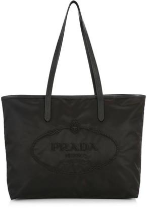 Prada Heritage Logo Nylon Shopper