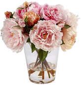 """Winward Silks 13"""" Peony in Glass Vase - Faux"""