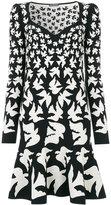 Alexander McQueen swallow jacquard dress - women - Polyamide/Polyester/Spandex/Elastane/Viscose - S