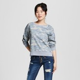 Mossimo Women's Crew Sweatshirt Camo Print