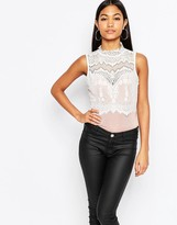 Lipsy Lace High Neck Body
