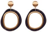 Trina Turk Two-Tone Doorknocker Earrings