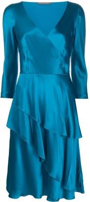 Alberta Ferretti V-Neck Flared Dress
