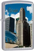 Zippo Chicago City Style1 Outdoor Indoor Windproof Lighter Free Custom Personalized Engraved Message Permanent Lifetime Engraving on Backside