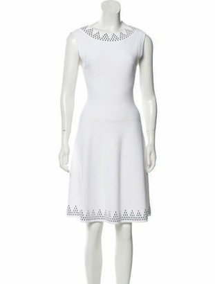 Alaia Embellished Knee-Length Dress White