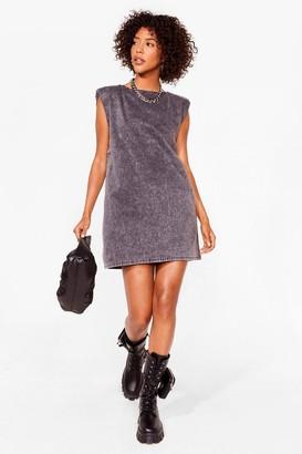 Nasty Gal Womens Washin' Our Every Move Denim Mini Dress - Grey