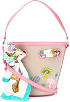 Olympia Le-Tan mushroom beaded bucket tote