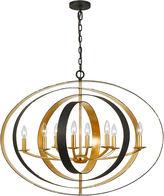 Crystorama Luna 8-Light Oval Chandelier, Bronze