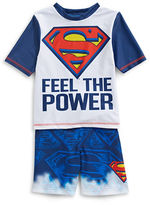 Ntd Superman Rash Guard Two-Piece Set