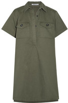 Alexander Wang Cotton-twill Mini Dress - Army green
