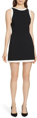 Alice + Olivia Truly Banded Detail Fit & Flare Minidress