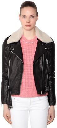 Rag & Bone Mckenzie Leather Jacket W/ Collar