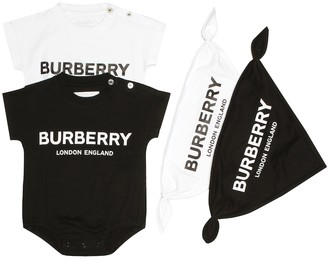 BURBERRY KIDS Pack of 2 bodysuits and bibs