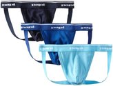Papi Men's 3-Pack Cotton Jock Strap