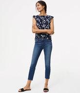 LOFT Modern Clean Skinny Crop Jeans in Mid Stonewash