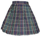 Beautifulfashionlife Girl's Japan School Plain Solid Pleated Costumes Skirts (M, )