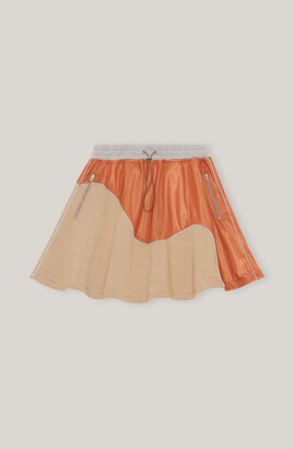 Ganni Isoli Patchwork Mini Skirt