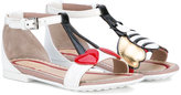 Gucci Kids - sandals - kids - Calf Leather/Leather/rubber - 21