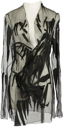 Anthony Vaccarello Black Silk Jackets